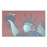 American Liberty Rectangle Decal
