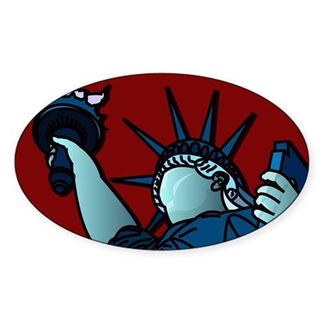 American Liberty Oval Sticker