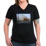 The Blimp Women's V-Neck Dark T-Shirt