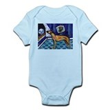 RHODESIAN RIDGEBACK cs moon Infant Creeper