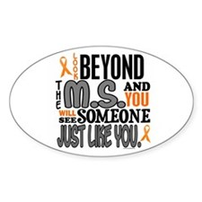 Look Beyond 1 (MS) Oval Decal