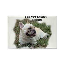 French bulldog Snort Rectangle Magnet