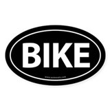 Bike Traditional Auto Sticker -Black (Oval)