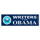 WRITERS FOR OBAMA Bumper Bumper Sticker