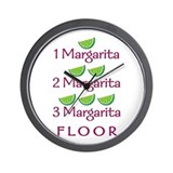 1-2-3-Margarita - Wall Clock