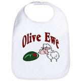 I Love You: Olive Ewe Bib