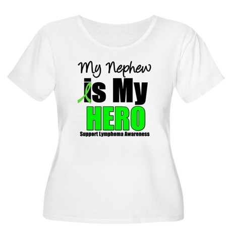 Lymphoma Hero (Nephew) Women's Plus Size Scoop Nec