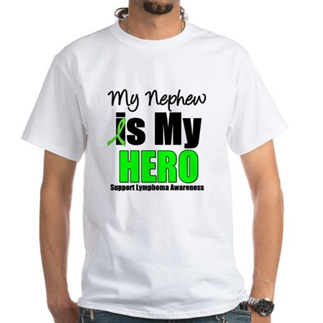 Lymphoma Hero (Nephew) White T-Shirt