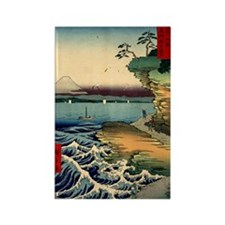 Japanese Ukiyo-e Mt. Fuji Rectangle Magnet (10 pac