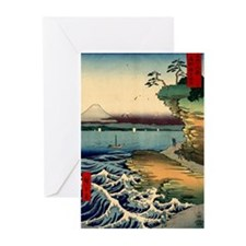 Japanese Ukiyo-e Mt. Fuji Greeting Cards (Pk of 20
