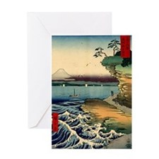 Japanese Ukiyo-e Mt. Fuji Greeting Card
