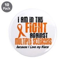 "In The Fight Against MS 1 (Niece) 3.5"" Button (10"