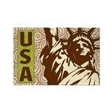 USA Liberty Rectangle Magnet (100 pack)