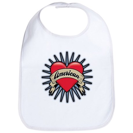 American Tattoo Heart Bib