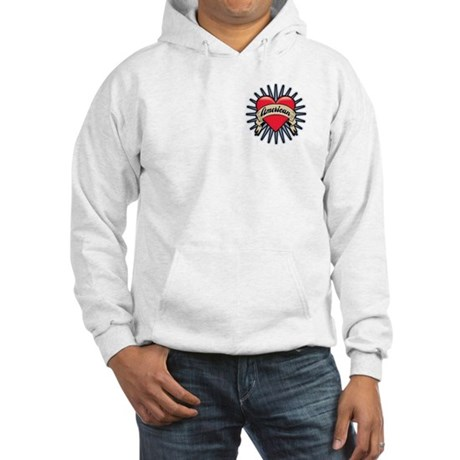 American Tattoo Heart Hooded Sweatshirt