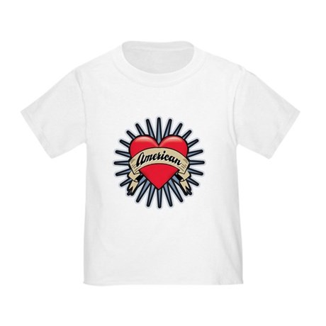 American Tattoo Heart Toddler T-Shirt