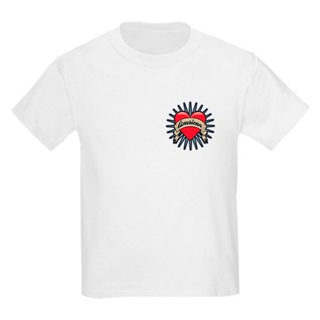 American Tattoo Heart Kids Light T-Shirt