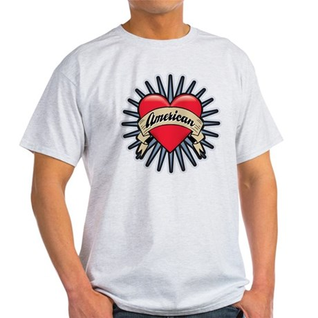 American Tattoo Heart Light T-Shirt
