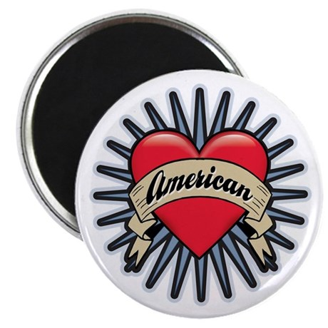 "American Tattoo Heart 2.25"" Magnet (100 pack)"