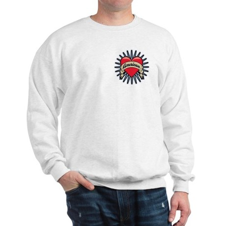 American Tattoo Heart Sweatshirt