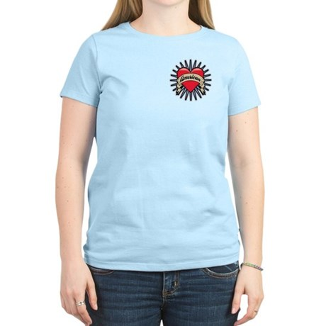 American Tattoo Heart Women's Light T-Shirt