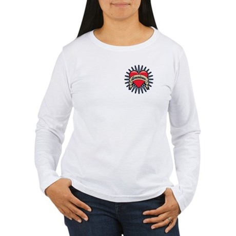 American Tattoo Heart Women's Long Sleeve T-Shirt