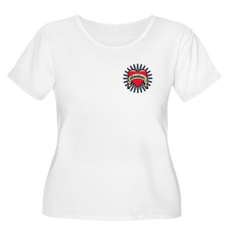 American Tattoo Heart Women's Plus Size Scoop Neck