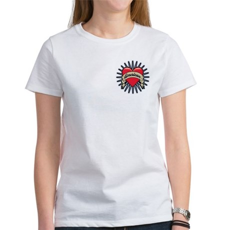 American Tattoo Heart Women's T-Shirt