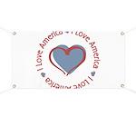 I Love Heart America Banner