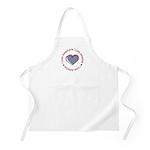 I Love Heart America BBQ Apron