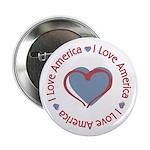"I Love Heart America 2.25"" Button (10 pack)"