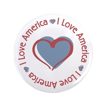 """I Love Heart America 3.5"""" Button"""
