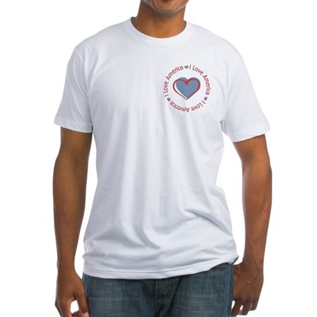 I Love Heart America Fitted T-Shirt
