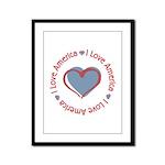 I Love Heart America Framed Panel Print
