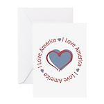 I Love Heart America Greeting Card