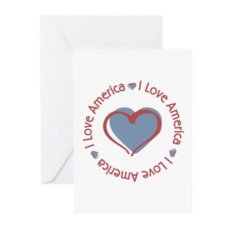 I Love Heart America Greeting Cards (Pk of 10)