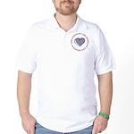 I Love Heart America Golf Shirt