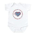 I Love Heart America Infant Bodysuit