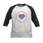 I Love Heart America Kids Baseball Jersey