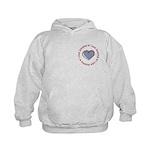 I Love Heart America Kids Hoodie