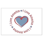 I Love Heart America Large Poster