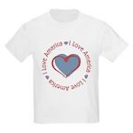 I Love Heart America Kids Light T-Shirt