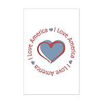 I Love Heart America Mini Poster Print
