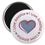 I Love Heart America Magnet