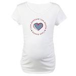 I Love Heart America Maternity T-Shirt