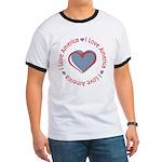I Love Heart America Ringer T