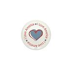 I Love Heart America Mini Button