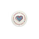 I Love Heart America Mini Button (100 pack)