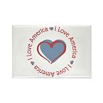 I Love Heart America Rectangle Magnet (10 pack)