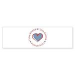 I Love Heart America Bumper Sticker